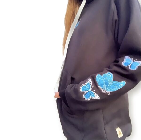 Bordado Mariposa Azul